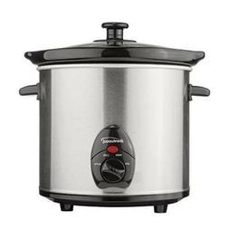 Slow Cooker Stainless 3Qt, by Brentwood, stainless steel