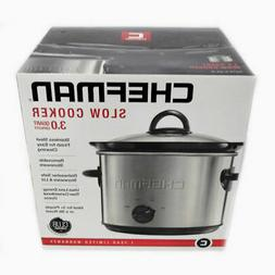 Chefman RJ15-3-SS-R Heat Settings, Removable Crock Insert Di