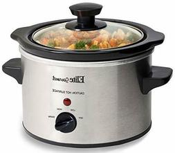 Elite Gourmet MST-250XS Electric Slow Cooker, 1.5 Quart, Sta