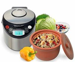 VitaClay Smart Organic 6-Cup 3-Qt. Rice Cooker Slow Cooker S