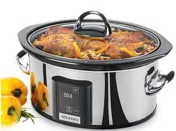 Stainless Steel 6.5 Quart Slow Cooker Crock-Pot with eLume T