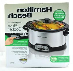 stainless steel programmable slow cooker