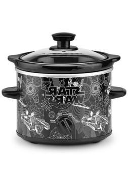 NIB ~ Star Wars 2 Quart Slow Cooker Black Kitchen Tool Remov