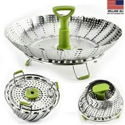 Steamer Basket Stainless Steel Vegetable Steamer Basket Fold