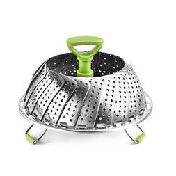 Stainless Steel Folding Steamer Steam Vegetable Basket Mesh