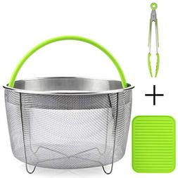 Boodva Instant Pot Accessories 6qt Steamer Basket with Silic