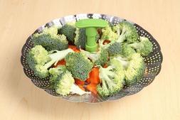 Steamer Cooking Basket For Vegetables Fish Seafood Foldable