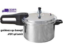 IMUSA Stovetop Aluminum Pressure Cooker 7.0-Quart, Cool touc