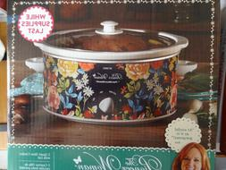 The Pioneer Woman FIONA Floral 5 Quart Slow Cooker Crock Pot