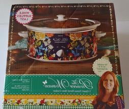 The Pioneer Woman FIONA Floral 5 Quart Slow Cooker Crock Pot