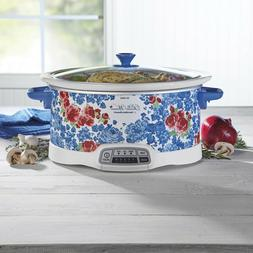 The Pioneer Woman Frontier Rose Slow Cooker 7 Quart Automati