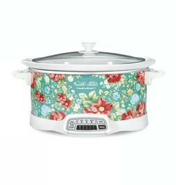 The Pioneer Woman Home, 7 Qt Vintage Floral Style Slow Cooke