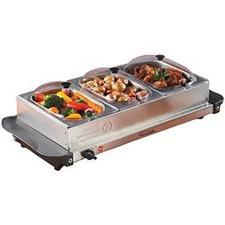 Brentwood Triple Buffet Server With Warming Tray -  - 2pack