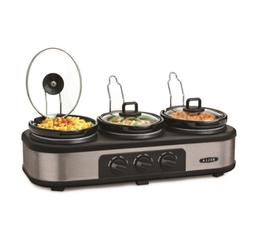 triple slow cooker and buffet server 3