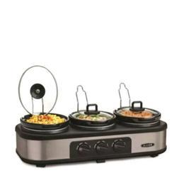 BELLA Triple Slow Cooker and Buffet Server 3 x1.5 QT Manual