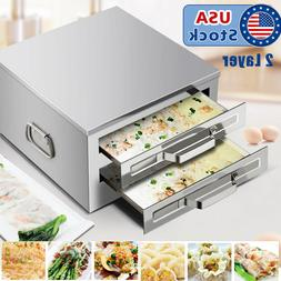 USA Stainless Steel 2 Layer Rice Noodle Roll Steamer, Rice r