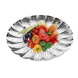 """Premium Vegetable Steamer Basket,5.5"""" to 9.3"""", Insert for In"""
