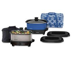West Bend Versatility Oblong Slow Cooker with Tote