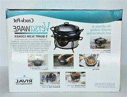Rival Versaware Crock Pot Slow Cooker NEW SC7500 5 Qt. Extre
