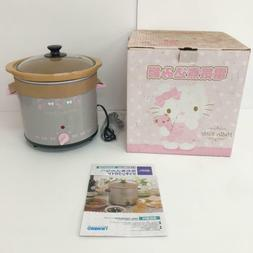Very Rare Sanrio Hello Kitty Electric cooked pot SLOW COOKER