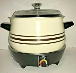 Vintage 1970's West Bend 4 Quart Slow Cooker NO 4411  BRAND