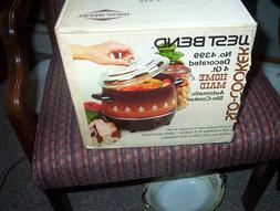 Vintage 1970's West Bend 4 Quart Slow Cooker NO 4399 Sealed