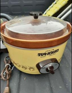 Vintage 4 Qt Rival CrockPot Slow Cooker With Removable Stone