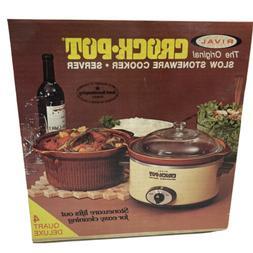 Vintage Rival Crock Pot Slow Cooker 4 Quart Removable Stonew