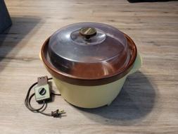 Vintage Rival Crock-Pot Slow Cooker Server 3300-2 Avocado Gr