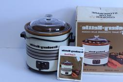 Vintage Crockery Kettle Slow Cooker Crock Pot 3-1/2 Qt Japan