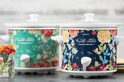 Vintage Floral 1.5-Qt Slow Cookers Set Of 2 Removable Stonew