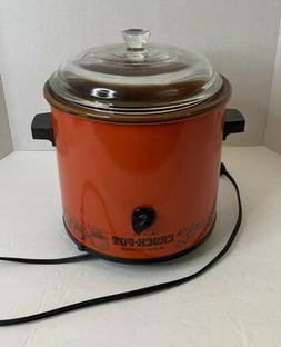 Vintage Red Rival Slow Cooker Crock Pot Tested