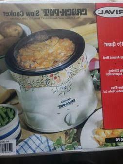 Vintage Rival Crock Pot Model 3100 3 1/2 Quart Slow Cooker N