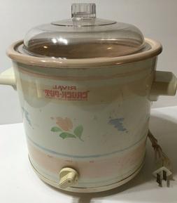 vintage rival crock pot stoneware slow cooker