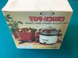 Vintage Rival Model 3150 Crock Pot Stoneware Slow Cooker 3.5