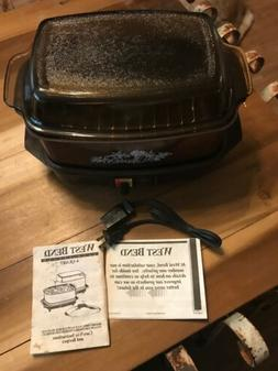 Vintage West Bend Slo Cooker 4 Qt Slow Cooker 84114 Amber Br