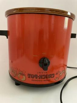 VTG Rival Crock Pot Slow Cooker Red No Lid Works
