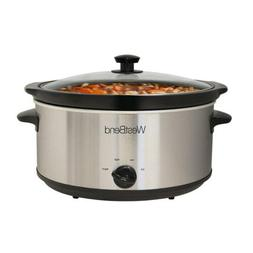 West Bend 87156 Round Manual Slow Cooker with Ceramic Cookin