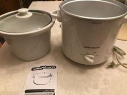 white 1 5 quart slow cooker white