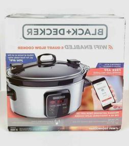 Wifi-Enabled Crock-Pot 6-Quart Slow Cooker Programmable Oval