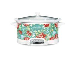 Pioneer Woman 7 Quart Programmable Slow Cooker In Vintage Fl