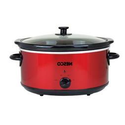 WRANGLER 6-QUART OVAL ANALOG SLOW COOKER - METALLIC RED