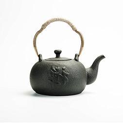 YONGJUN Ceramic Teapot 1.2L, Matte Finish Matte Texture, Nat